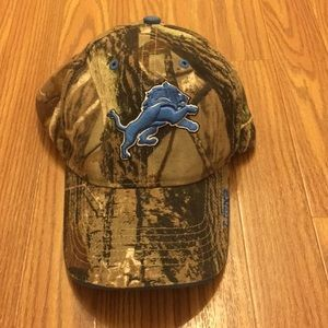 Detroit Lions Camo Baseball Hat